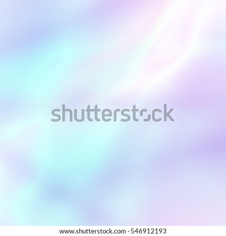 Abstract soft holographic background in pastel light colors. Trendy wallpaper - hipster style.