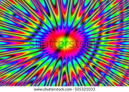 Abstract Structural Curved Pattern. Rainbow Lines and Colorful Waves. Poster for Print. Raster Illustration