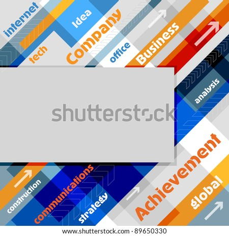 Abstract technology background, raster illustration