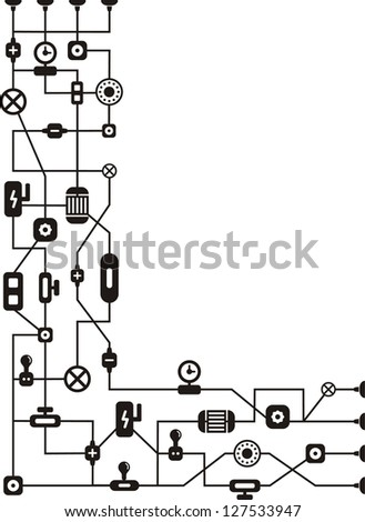 Abstract technology background. Raster version, vector file available in portfolio.