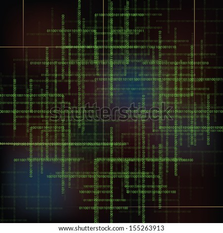 Abstract  technology background with  binary code. Raster version.