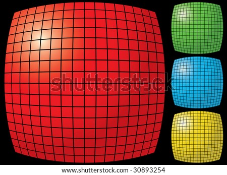 Abstract tiles gradient background. Raster illustration for you design. Variants.
