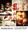 abstract vintage gambling background- poker conceptual wallpaper - stock photo