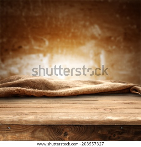 abstract wall of brown and worn desk