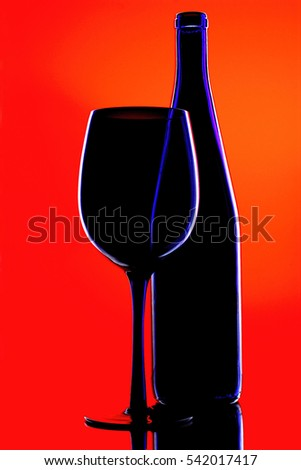 Abstract Wine Glassware Design