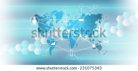 abstract world technology background