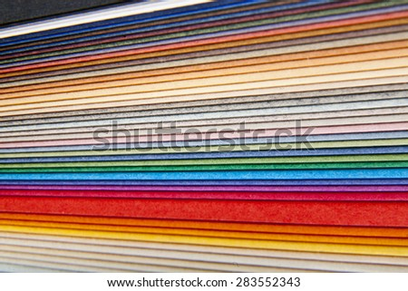 abstraction from the coloured paper as a background