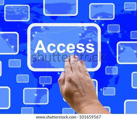 Access Button Over Map Shows Permission And Security