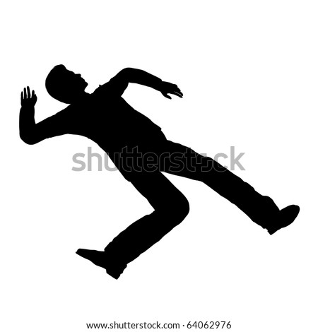 Accident person pose silhouette illustration