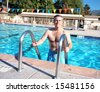 Active Senior Swimmer - stock photo