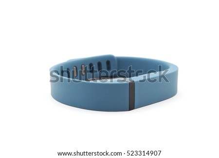 Activity tracker on white background