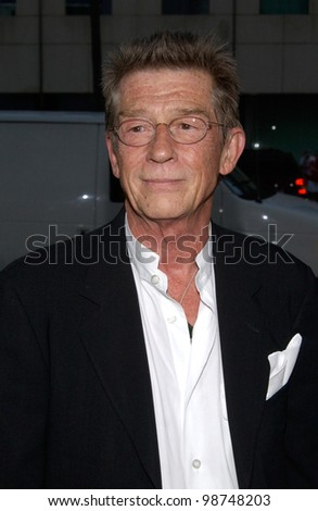Actor JOHN HURT at the the Los Angeles premiere of his new movie Captain Corelli's Mandolin. 13AUG2001.   Paul Smith/Featureflash