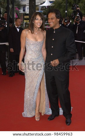 Actress ELIZABETH HURLEY & boyfriend ARUN NAIR at the closing ceremony of the 56th Annual Cannes Film Festival. 25MAY2003