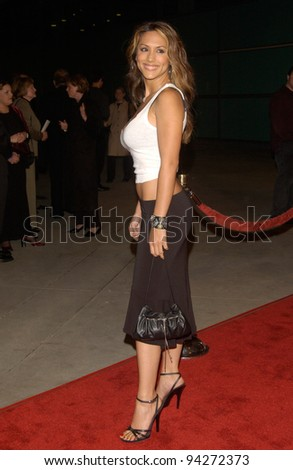 Actress LEEANN TWEEDEN at the U.S. premiere, in Hollywood, of Femme Fatale. 04NOV2002.   Paul Smith / Featureflash