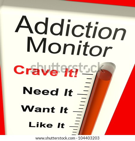 Addiction Monitor Shows Craving And Substance Abuses