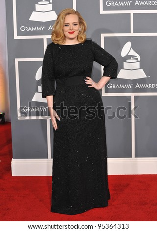 Adele at the 54th Annual Grammy Awards at the Staples Centre, Los Angeles. February 12, 2012  Los Angeles, CA Picture: Paul Smith / Featureflash
