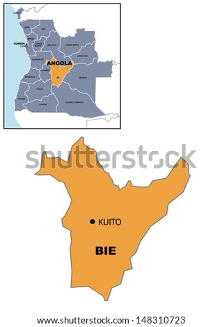 Administrative Map Angola Stock Illustration 148310735 Shutterstock