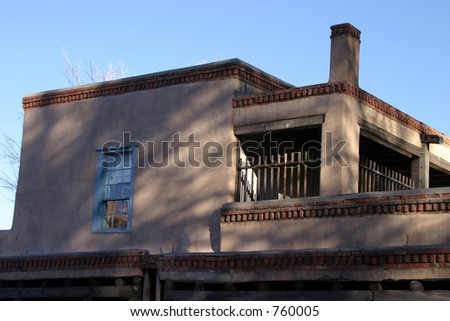 Adobe building in Santa Fe New Mexico