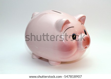 Piggy bank upside down easy cut stock photo 4091575 for How to paint a ceramic piggy bank