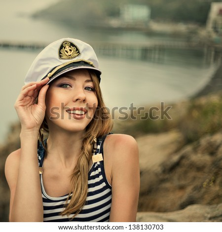 stock photo adorable woman wearing sea captain s cap and sexy sailor t shirt 138130703 Precisely what is the Top Seeing Site on the Internet?