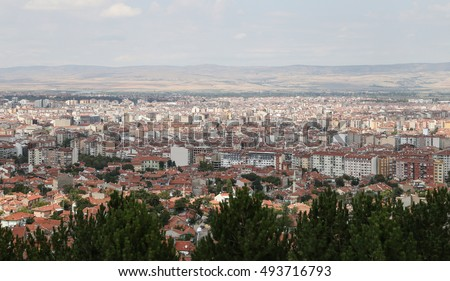 Aerial Townscape of Eskisehir City in Turkey