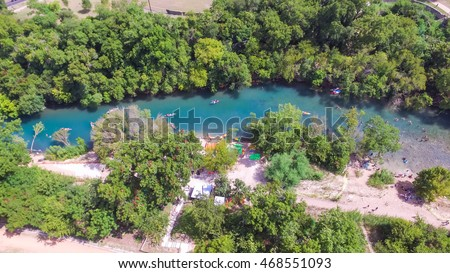 Aerial view barton creek greenbelt area stockfoto for Barton creek nursery