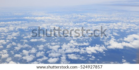 Aerial view of blue sky and cloud