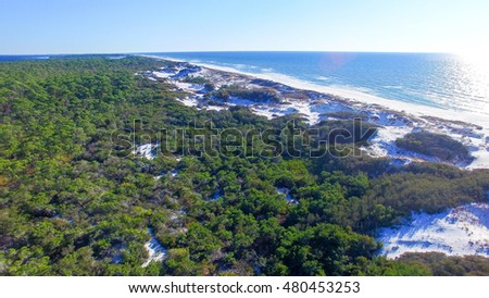 Aerial view of Cape San Blas, Florida - USA.