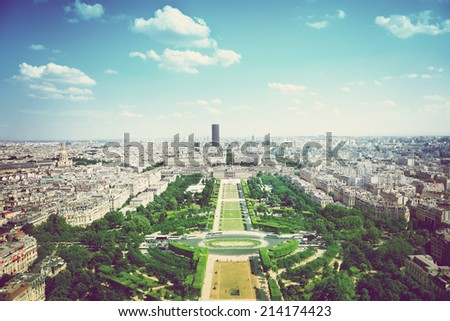 Aerial View on Champ de Mars