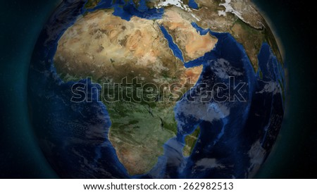 Africa Close-up (Elements of this image furnished by NASA)