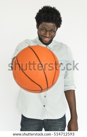 African Man Smiling Happiness Basketball Portrait Concept