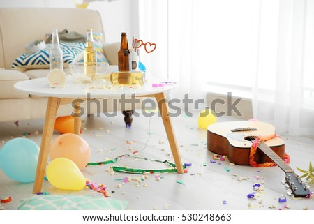 After Party Interior Chaos Stock Photo 530248582