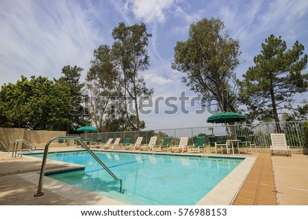 Luxury Salt Water Pool Patio Residential Stock Photo 129976238 Shutterstock