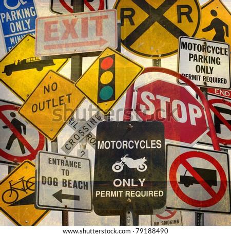Traffic Safety Roadwork Signs Light Stock Photo 232029664 ...