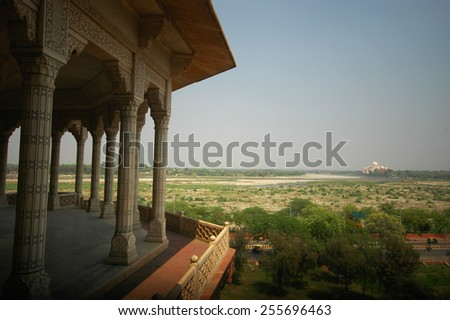 Agra fort, World Heritage site located in Agra