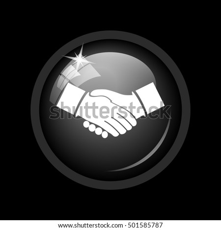 Agreement icon. Internet button on black background.