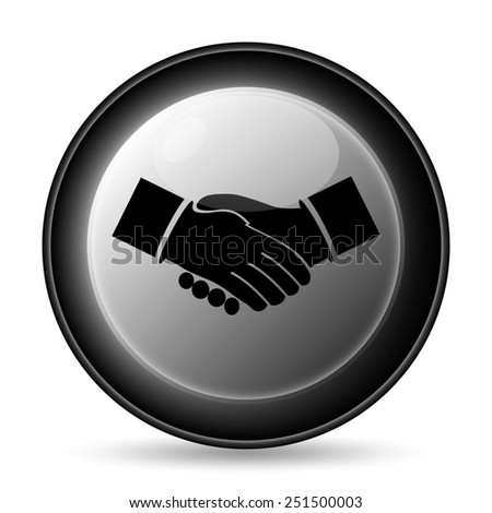 Agreement icon. Internet button on white background.