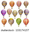 Air balloons. Isolated on white background - stock vector