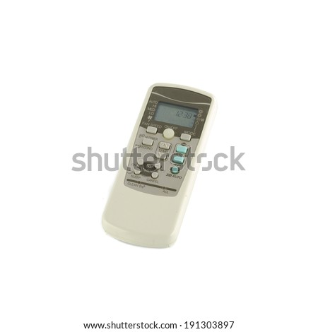 air condition remote isolated on white background