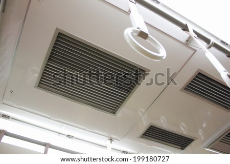 Air Conditioner In The Commuter Train