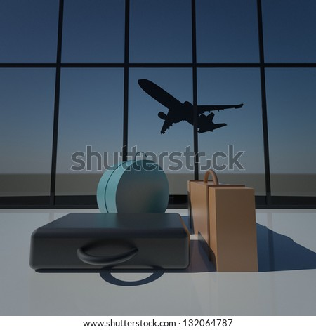 Air Travel 3D Concept