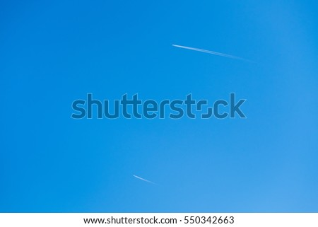 Airplane with clear sky