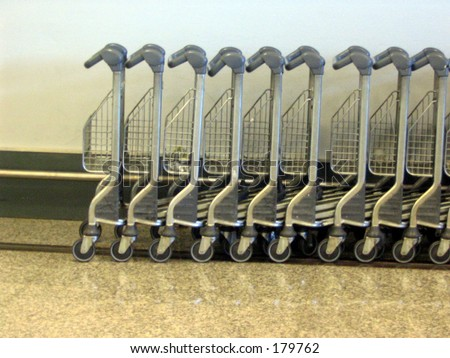 Airport luggage carts