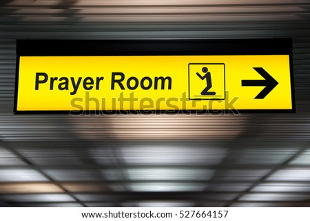 Airport Sign /Airport Sign With Prayer room Icon