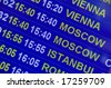 Airport sign - Flight Information departure board - stock photo