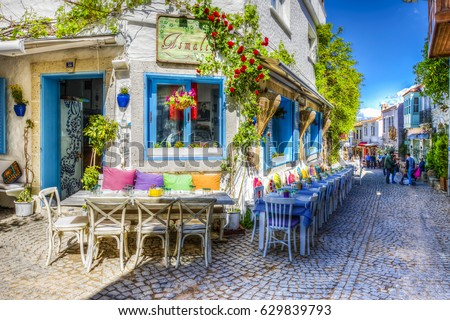 Alacati Turkey April 18 2017 Colorful Stock Photo ...