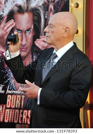 "Alan Arkin at the world premiere of his movie ""The Incredible Burt Wonderstone"" at the Chinese Theatre, Hollywood. March 11, 2013  Los Angeles, CA Picture: Paul Smith"