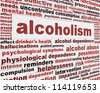 Alcoholism medical poster design. Alcohol addiction message background - stock photo