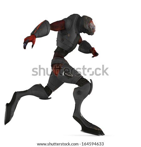 alien monster running
