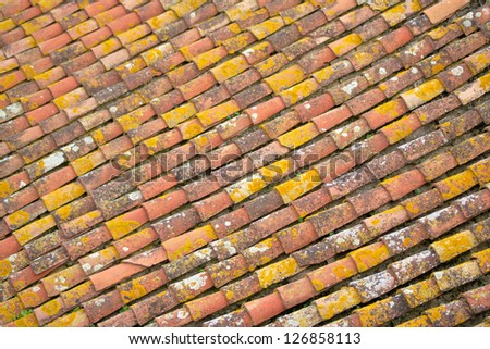 Alignment of tiles on a roof